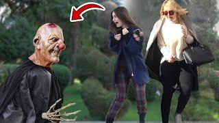 Halloween Hornless Evil Demon Scary Prank AWESOME REACTIONS