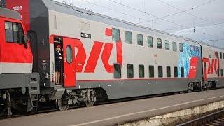 Обзор двухэтажного поезда Москва-Адлер Еду в Краснодар