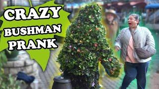 OMG! YOU HAVE TO WATCH THIS Bushman Scare Prank San Antonio River Walk