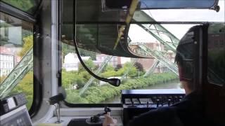 Вид из кабины машиниста метро Вупперталера, германия