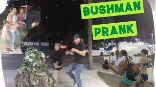 CREEPY BUSHMAN PRANK AT THE BEACH