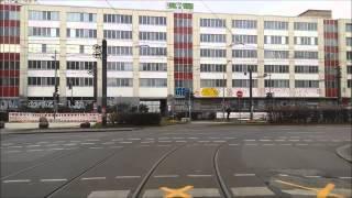 Вид из трамвая Берлина, снятый машинистом, линия 21