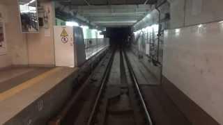 Тоннели Киевского метро, снятые машинистом