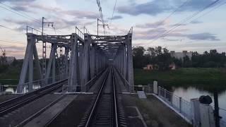 Прибытие поезда на станцию Тверь, Вид из кабины машиниста