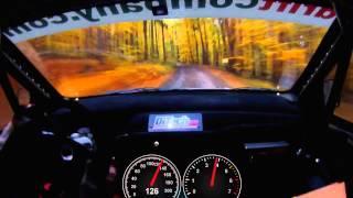 Ралли, 206 км/ч по лесу Съемка глазами водителя