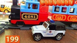 Поезда Мультики про Паровозики Лего Поезд Город машинок 199 серия Развивающие мультики для детей