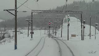 Сибирская природа из окна машиниста поезда
