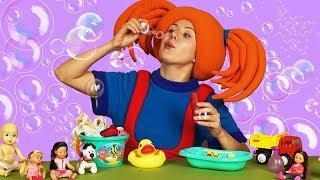 """Развивающее видео для детей - Поиграйка с Царевной - СТИРКА + Песенка из мультика """"Шапку долой!"""""""