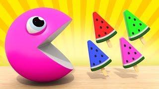 Изучаем Цвета | Пакман - Мороженое для детей |  Развивающие мультики для малышей   #ВолшебствоТВ