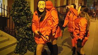 Halloween Girls VS Bushman:  Prank