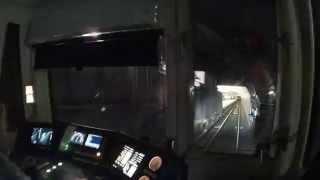 Поездка в кабине машиниста метро Новый состав 2014 серая ветка