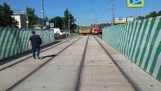 Глазами водителя трамвая Москва Маршрут 6 От м. Сокол до Восточного моста