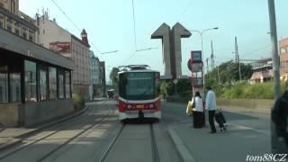 Вид из скоростного трамвая Праги, снятый машинистом