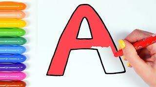 Алфавит. Азбука. Учим буквы. Для детей.