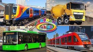 Машинки - изучаем транспорт, цвета и строительную технику для детей / Обучающее видео