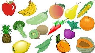 Овощи и фрукты Изучаем слова Обучающее видео для детей For children