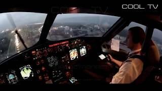 Уровень Бог посадка самолета вид из кабины пилота