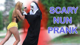 SCARY NUN PRANK 3 FUNNY  REACTIONS Best of Just For Laughs