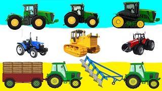 Трактор.  Развивающие мультики для детей.