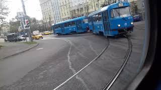 Поездка на трамвае МТТЕ №30218 Маршрут № 39 Москва