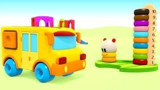 Развивающие мультики — Учим цвета —  Маленький автобус и ХопХоп