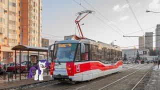 Поездка на трамвае 71-153.3 (ЛМ-2008) № 4921 Маршрут № 43 Москва