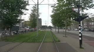 Вид из кабины трамвая, Гаага.