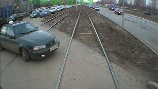 Набережные Челны. Видеорегистратор из кабины трамвая. 15 апреля 2014 г.