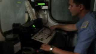 Вид из кабины машиниста метро
