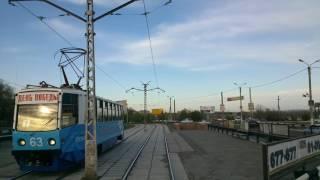 Поездка на трамвае 1-го маршрута по Новотроицку (2014 год)