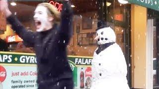 SCARY SNOWMAN PRANK 2013 FULL SEASON (31 Mins) Шутки над людьми