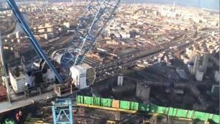 Москва из кабины крана