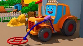 Мультик про Трактор на Работе в Городке Машинок! Новые серии для детей 2018