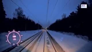 Москва - Владимир из кабины машиниста HD