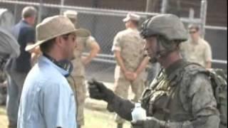 Видео со съемок фильма «Инопланетное вторжение»