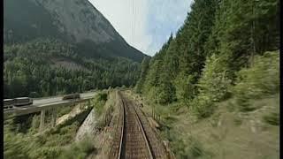 На поезде по Австрии Вид из кабины Из Ирднинг в Гмунден