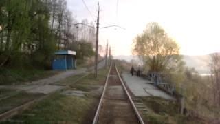 Весенний восход из кабины трамвая