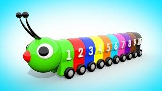Мультик для малышей - УЧИМ ЦВЕТА И ЦИФРЫ Цветная Гусеница | Учимся считать от 1 до 10  Волшебство ТВ