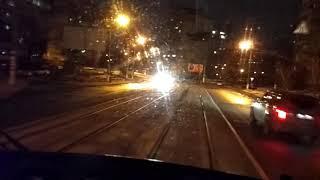 Вид из кабины трамвая маршрут №8