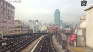 Вид из метро Нью-Йорка снятый машинистом поезда