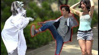 SCARY HALLOWEEN GHOST PRANK AWESOME REACTIONS Best of Just For Laughs