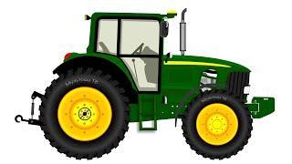 Машинки. Трактор. Развивающий мультик