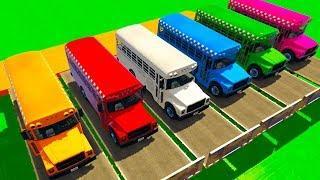 Мультики про машинки Цветные Машинки и Автобусы для малышей Мультфильмы для детей