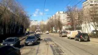 Москва маршрут трамвая №11 часть 1
