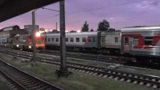 Вологда из окна поезда. Прибытие на станцию Вологда-I