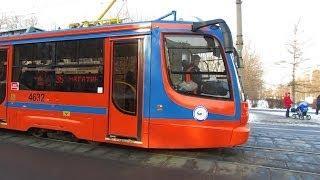 Трамвай 71-623 на маршруте 35 в Москве