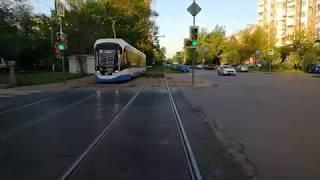 Москва. Вид из кабины трамвая. маршрут 43.