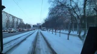Новокузнецк из кабины трамвая