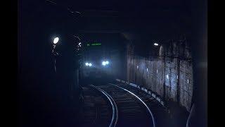 Московское метро таймлапс /вид из кабины