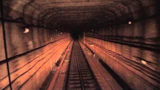 Вид из кабины машиниста киевского метрополитена
